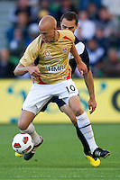 MELBOURNE, AUSTRALIA - DECEMBER 27: Ruben Zadkovich of the Jets controls the ball during the round 20 A-League match between the Melbourne Victory and the Newcastle Jets at AAMI Park on December 27, 2010 in Melbourne, Australia. (Photo by Sydney Low / Asterisk Images)
