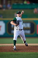 Fort Wayne TinCaps starting pitcher Ryan Weathers (25) during a Midwest League game against the Peoria Chiefs on July 17, 2019 at Parkview Field in Fort Wayne, Indiana.  Fort Wayne defeated Peoria 6-2.  (Mike Janes/Four Seam Images)