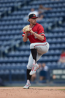 Rochester Red Wings relief pitcher Gabe Klobosits (24) in action against the Scranton/Wilkes-Barre RailRiders at PNC Field on July 25, 2021 in Moosic, Pennsylvania. (Brian Westerholt/Four Seam Images)