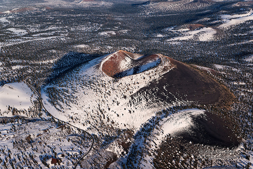 Sunset Crater, Aerial View, Arizona