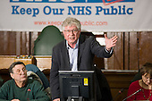 John Lister, Health Emergency, Public meeting called by Keep Our NHS Public to discuss action against the coalition government's NHS White Paper, Camden Town Hall, London.