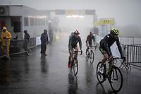 misty finish line arrival by Damien Howson (AUS/Mitchelton-Scott)<br /> <br /> torrential rainstorm hits Stage 7: Saint-Genix-les-Villages to Pipay  (133km)<br /> 71st Critérium du Dauphiné 2019 (2.UWT)<br /> <br /> ©kramon