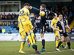 Ross County v St Johnstone…18.02.17     SPFL    Global Energy Stadium, Dingwall<br />Keith Watson's header hits the arm of a defender but no penalty was awarded<br />Picture by Graeme Hart.<br />Copyright Perthshire Picture Agency<br />Tel: 01738 623350  Mobile: 07990 594431