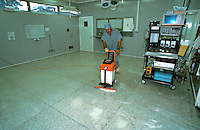 Cleaning of operating theatre