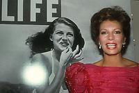 #Yasmin Khan 1985<br /> (Mom Rita Hayworth on cover of LIFE)<br /> Photo By Adam Scull/PHOTOlink.net