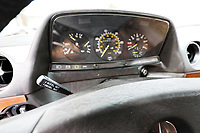 Pictured: The cruise control lever. Monday 02 September 2019<br /> Re: A Mercedes Benz W123 300D Turbo Diesel car from Missouri in the USA, which has been repaired by Marc Cosovich of W123 World in Swansea, Wales, UK.