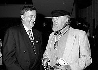 Montreal (QC) Canada- August 24 1995 File Photo - World Film Festival Opening - Pierre Bourque, Montreal Mayor (L),