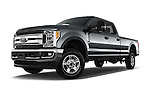 Stock pictures of low aggressive front three quarter view of 2017 Ford F-350 XLT-Crew 4 Door Pickup Low Aggressive