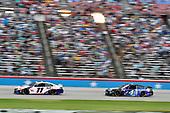 #11: Denny Hamlin, Joe Gibbs Racing, Toyota Camry FedEx Office and #4: Kevin Harvick, Stewart-Haas Racing, Ford Mustang Busch Light #BuschToTheMoon