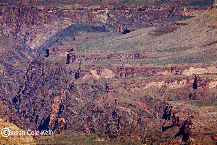 The inner gorge of the Colorado River seen from Moran Point, Grand Canyon National Park, AZ, USA