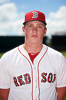 GCL Red Sox pitcher Jason Groome (51) poses for a photo before a game against the GCL Orioles on August 16, 2016 at the Ed Smith Stadium in Sarasota, Florida.  GCL Red Sox defeated GCL Orioles 2-0.  (Mike Janes/Four Seam Images)