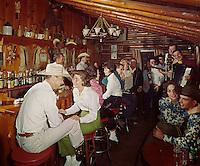 Bit & Bridle, Stony Creek, NY. Couples enjoying the music in the cowboy bar.