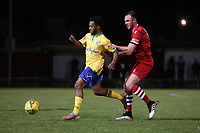 Mauro Vilhete of Wingate & Finchley and Matt Johnson of Hornchurch during Hornchurch vs Wingate & Finchley, Pitching In Isthmian League Premier Division Football at Hornchurch Stadium on 6th October 2020