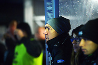 Former Black Stick Pete Miskimmin watches the Sentinel Homes Trans Tasman Series hockey match between the New Zealand Black Sticks Men and the Australian Kookaburras at Massey University Hockey Turf in Palmerston North, New Zealand on Tuesday, 1 June 2021. Photo: Dave Lintott / lintottphoto.co.nz