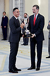 King Felipe VI of Spain and Keylor Navas attends to National Sports Awards at Royal Palace of el Pardo in Madrid, Spain. January 10, 2019. (ALTERPHOTOS/A. Perez Meca) (ALTERPHOTOS/A. Perez Meca)
