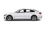 Car driver side profile view of a 2020 BMW 4 Series 430i Gran Coupe 5 Door Hatchback