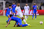 Abdulwahab Ali Alsafi of Bahrain (R) in action during the AFC Asian Cup UAE 2019 Group A match between India (IND) and Bahrain (BHR) at Sharjah Stadium on 14 January 2019 in Sharjah, United Arab Emirates. Photo by Marcio Rodrigo Machado / Power Sport Images