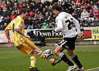 ATTENTION SPORTS PICTURE DESK<br /> Pictured: Angel Rangel of Swansea City in action<br /> Re: Coca Cola Championship, Swansea City Football Club v Newcastle United at the Liberty Stadium, Swansea, south Wales. 13 February 2010