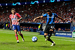 Atletico de Madrid's Angel Martin Correa and Club Brugge's Arnaut Danjuma during UEFA Champions League match between Atletico de Madrid and Club Brugge at Wanda Metropolitano Stadium in Madrid, Spain. October 03, 2018. (ALTERPHOTOS/A. Perez Meca)