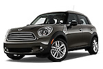 Low aggressive front three quarter view of a 2011 - 2014 Mini Cooper Countryman SUV.