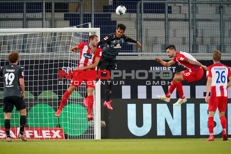 Jonas Föhrenbach / Foehrenbach (1. FC Heidenheim 1846 #19), Theodor Gebre Selassie (Werder Bremen #23), Tim Kleindienst (1. FC Heidenheim 1846 #10), Joshua Sargent (Werder Bremen #19), David Otto (1. FC Heidenheim 1846 #26)<br /> <br /> <br /> Sport: nphgm001: Fussball: 1. Bundesliga: Saison 19/20: Relegation 02; 1.FC Heidenheim vs SV Werder Bremen - 06.07.2020<br /> <br /> Foto: gumzmedia/nordphoto/POOL <br /> <br /> DFL regulations prohibit any use of photographs as image sequences and/or quasi-video.<br /> EDITORIAL USE ONLY<br /> National and international News-Agencies OUT.