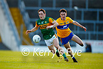 Paudie Clifford, Kerry, in action against Joe McGann, Clare, during the Munster Football Championship game between Kerry and Clare at Fitzgerald Stadium, Killarney on Saturday.