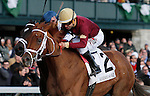 LEXINGTON, KY - APRIL 09: #2 Sheer Drama and jockey Joe Bravo win the 15th running of The Madison (Grade 1) $300,000 at Keeneland race course for owner Harold Queen and trainer David Fawkes.  April 9, 2016 in Lexington, Kentucky. (Photo by Candice Chavez/Eclipse Sportswire/Getty Images)