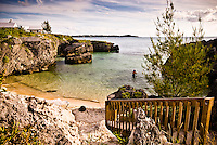 This is the Seven Beach resorts in the western part of Bermuda, Atlantic oceam