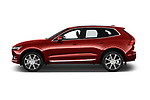 Car Driver side profile view of a 2020 Volvo XC60 Inscription-T8-eAWD-Plug-in-Hybrid 5 Door SUV Side View