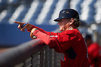 GCL Red Sox manager Tom Kotchman (11) during the first game of a doubleheader against the GCL Rays on August 4, 2015 at Charlotte Sports Park in Port Charlotte, Florida.  GCL Red Sox defeated the GCL Rays 10-2.  (Mike Janes/Four Seam Images)