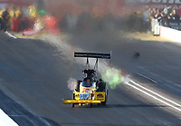 Feb 22, 2020; Chandler, AZ, USA; NHRA top fuel driver Shawn Langdon during qualifying for the Arizona Nationals at Wild Horse Pass Motorsports Park. Mandatory Credit: Mark J. Rebilas-USA TODAY Sports
