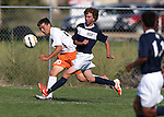 The Douglas Tigers and North Tahoe Lakers play a pre-season varsity soccer game on Thursday, Aug. 28, 2014, in Minden, Nev. <br /> Photo by Cathleen Allison
