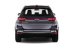 Straight rear view of a 2019 KIA Sportage More 5 Door SUV stock images