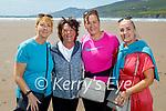 Four sisters enjoying a stroll on Inch Beach on Saturday, l to r: Kathleen Weber, Geraldine Burke, Valerie O'Callaghan and Deirdre Gaudino.
