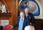 Johnny Hubbard and Harold Davis in the Blue Room at Ibrox Stadium