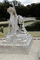 Sculpture in garden of Vaux-le-Vicomte. Maincy, France.