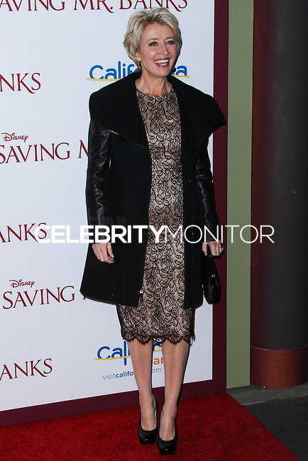 "BURBANK, CA - DECEMBER 09: Actress Emma Thompson arrives at the U.S. Premiere Of Disney's ""Saving Mr. Banks"" held at Walt Disney Studios on December 9, 2013 in Burbank, California. (Photo by Xavier Collin/Celebrity Monitor)"