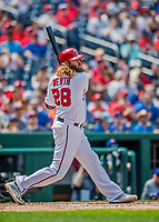 29 April 2017: Washington Nationals left fielder Jayson Werth at bat against the New York Mets at Nationals Park in Washington, DC. The Mets defeated the Nationals 5-3 to take the second game of their 3-game weekend series. Mandatory Credit: Ed Wolfstein Photo *** RAW (NEF) Image File Available ***