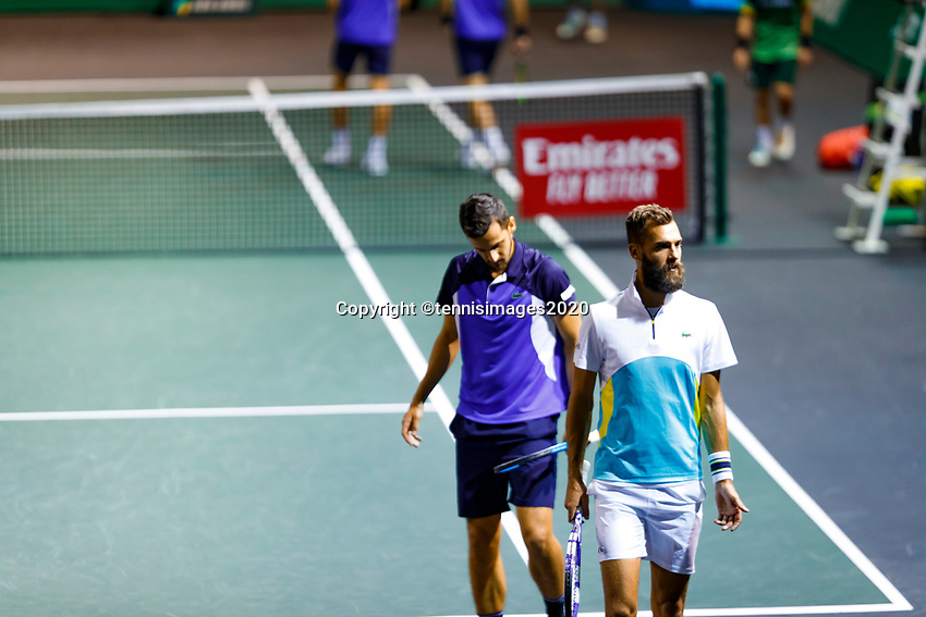 Rotterdam, The Netherlands, 12 Februari 2020, ABNAMRO World Tennis Tournament, Ahoy, Doubles: Benoit Paire (FRA) and Mate Pavic (CRO).<br /> Photo: www.tennisimages.com