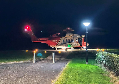 Rescue 118 landed at Altnagelvin Area Hospital on Saturday night 25 September