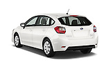 Car pictures of rear three quarter view of a 2015 Subaru Base Impreza 5 Door Hatchback angular rear