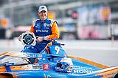#9: Scott Dixon, Chip Ganassi Racing Honda NTT P1 Pole Award and Front Row Portraits