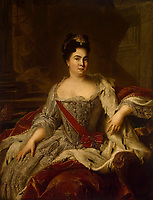 Portrait of Empress Catherine I. (1684-1727)<br /> Artist:Nattier, Jean-Marc(1685-1766)<br /> Museum:State Hermitage, St. Petersburg<br /> Method:Oil on canvas<br /> Created:1717<br /> School:France<br /> Trend in art:French Painting of 18th cen.
