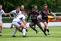Titus Gwaze of London Broncos during the Betfred Championship match between London Broncos and Newcastle Thunder at The Rock, Rosslyn Park, London, England on 9 May 2021. Photo by Liam McAvoy.