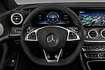 Car pictures of steering wheel view of a 2017 Mercedes Benz E Class AMG 43 4 Door Sedan