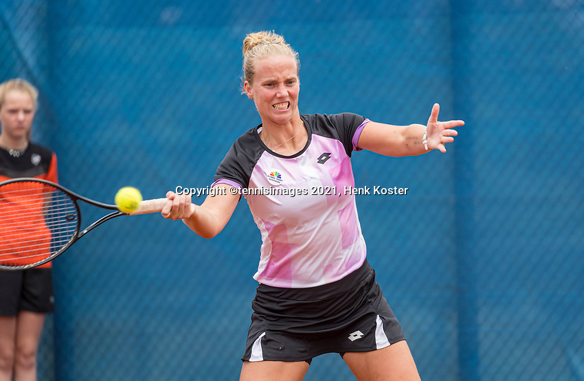Amstelveen, Netherlands, 6 Juli, 2021, National Tennis Center, NTC, Amstelveen Womans Open, Womans doubles: Richel Hogenkamp (NED) <br /> Photo: Henk Koster/tennisimages.com