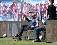 16th May 2020, Red Bull Arena, Leipzig, Germany; Bundesliga football, Leipzig versus FC Freiburg;  trainer Christian Streich SCF