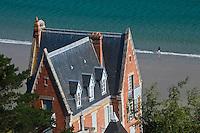 Europe/France/Bretagne/22/Côtes d'Armor/Perros-Guirec: Villas et Plage de Trestaou