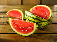 Cut baby red water melon