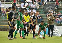 VILLAVICENCIO - COLOMBIA, 04-09-2021: Llaneros F. C. y Cortulua durante partido de la fecha 7 por el Torneo BetPlay DIMAYOR II 2021 en el estadio Bello Horizonte en la ciudad de Villavicencio. / Llaneros F. C. and Cortulua during a match of the 7th date for the BetPlay DIMAYOR II 2021 Tournament at the Bello Horizonte stadium in Villavicencio city. / Photo: VizzorImage / Juan Herrera / Cont.